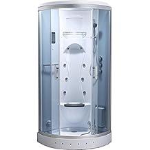 biancospino cabine de douche hydromassante de coin avec lumire intrieure modle de luxe avec radio 90 - Salle De Bain De Luxe Cabine Au Coin