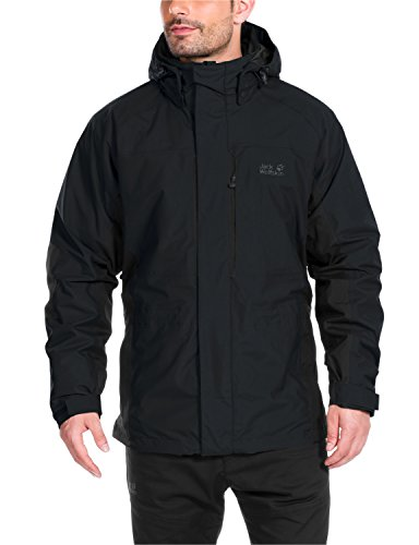 Jack Wolfskin Herren 3-in-1 Jacke Brooks Range Jacket, Black, M, 1107201-6000003
