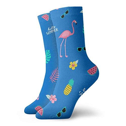 ouyjian Ananas, Blätter Muster Sport Compression Short Sock Beste für Männer & Frauen Baseball Travel 12
