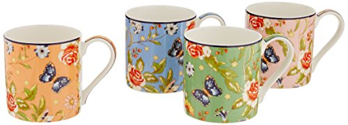 Aynsley Cottage Garden Windsor Tassen, 4 Stück im Set Aynsley Fine Bone China