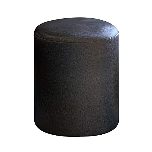 KKCF Duschsitze Niedriger Hocker PU-Kortex Starke Elastizität Rutschfeste Matte Sicherheit Gemütlich Kunst Stil , 3 Farben (Farbe : SCHWARZ, größe : 31x31x35cm) -