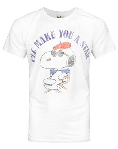 Herren - Junk Food Clothing - Peanuts - T-Shirt (M) - Snoopy Junk-food