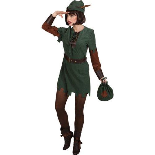 Gürtel Kostüm Robin - Robin Hood Lady Kleid Hut Gürtel, Größe:38