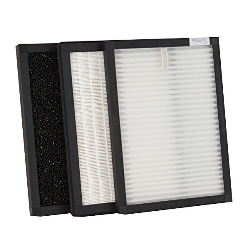 RHEMUS Filterbox für Luftreiniger RL 500 mit Multifunktionsfilter, HEPA-Filter und Aktivkohlefilter