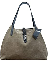 91242f5623255 Made in Italy Luxus Damen Schultertasche Beutel Leder Wildleder Shopper