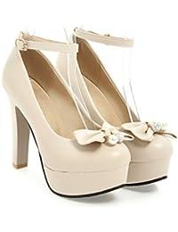 QIN&X Femme Talon Chaussures Plateforme,37,blanc