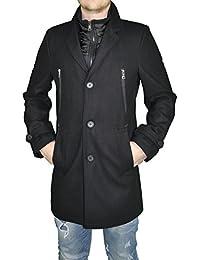Sportlich moderner Herren Mantel mit herauModischer Herren Woll Mantel mit heraustrennbarem Innenteil in Anthrazit oder Schwarz, Marke John Harris (Art. Nr.: 43262)