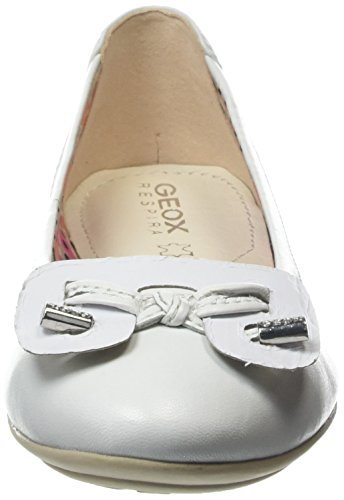 Geox D Charlene, Damen Ballerinas Weiß (White)