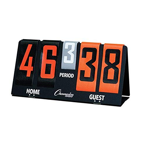 Champion Sports Deluxe flip-a-Score Board/Timer, One Size, Bold Orange -