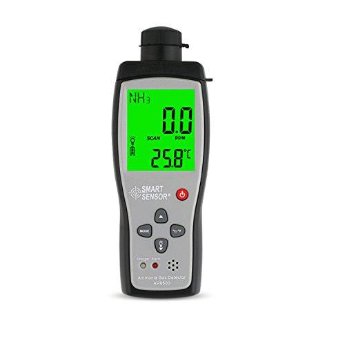 Jusheng Detector de gas portátil de la alarma NH3 de la concentración de la cría del hogar del detector de gas del amoníaco AR8500