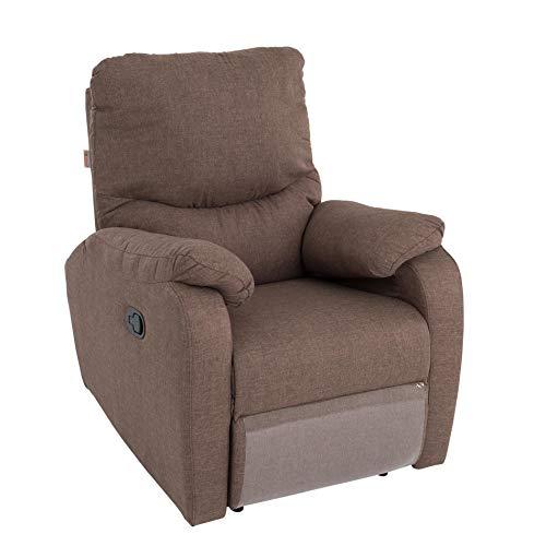 ESTEXO RTV Relax- und TV-Sessel mit Fußstütze Braun