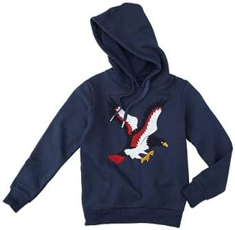 Eleven paris - little vaboom - sweat-shirt à capuche - garçon - marine (dark navy) - 14 ans