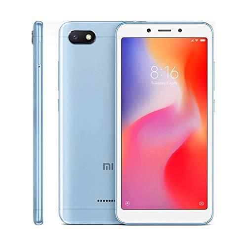 "Xiaomi Redmi 6A Smartphones 5.45"" Pantalla Full HD 2GB RAM + 16GB ROM Procesador Quad-Core de 12 NM, 5MP Delantero y 13MP cámara Trasera, Doble Ranura para Tarjeta SIM + MicroSD (Azul)"