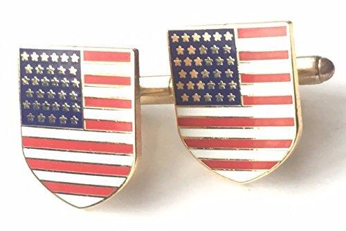 USA Vereinigte Staaten von Amerika Emaille verziert Manschettenknöpfe (N242) Verpacktes Geschenk