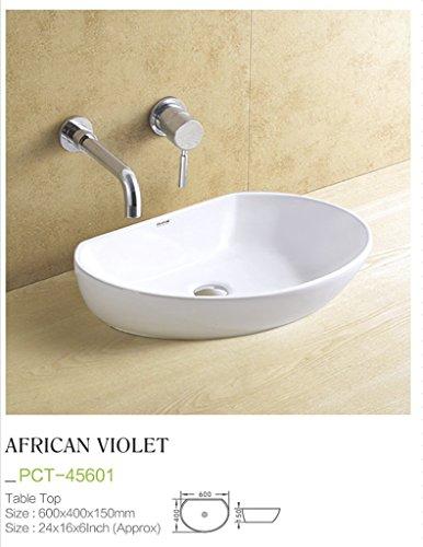 Plano Designer White Tabletop Washbasin African Violet