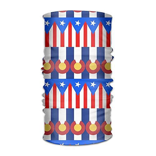 Ncutakuzvmr Unisex Flag of Puerto Rico Colorado Multifunctional Bandanas Sweatband Elastic Turban Headwear Headscarf Beanie Kerchief