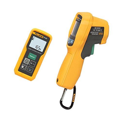 Fluke 414D/62MAX + Kit Laser-Entfernungsmesser/Infrarot-Thermometer, Combo,