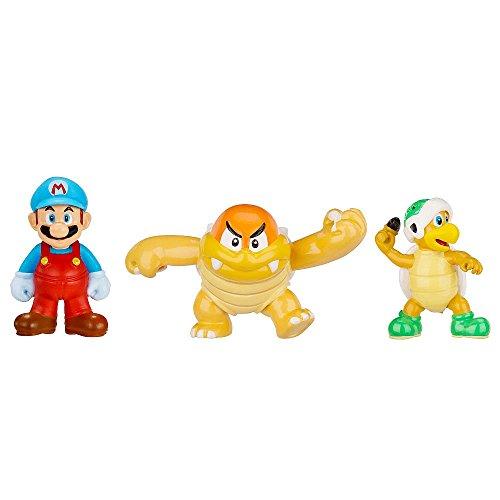 Nintendo - Figura Ice Mario, Boom Boom, Hammer Bros 2 cm