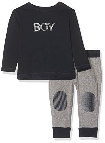Noppies Baby-Jungen B Set Alton Bekleidungsset, Mehrfarbig (Dark Sapphire P208), (Herstellergröße: 80)