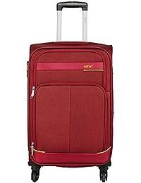 Safari Polyester 65 cms Red Softsided Suitcase (MAASAIMARA 4 Wheel Trolley 65 RED)