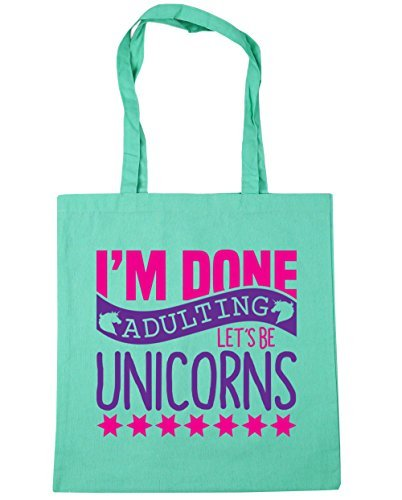 hippowarehouse-im-done-adulting-lets-be-unicorns-tote-shopping-gym-beach-bag-42cm-x38cm-10-litres