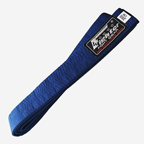 4Fighter Karate Gürtel blau in 260cm und 300cm