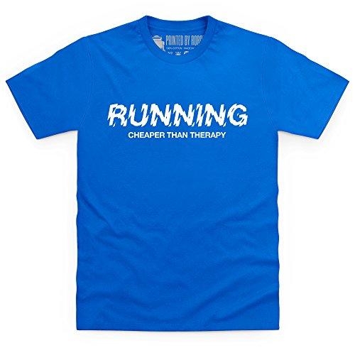 Cheaper Than Therapy T-Shirt, Herren Royalblau