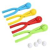 EQLEF 4 piezas de plástico colorido compacto bolas de nieve compacta...