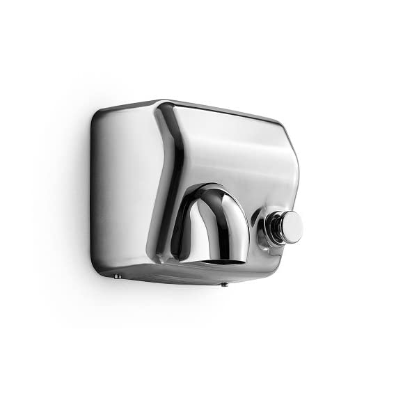 Wall Hands Dryer - Polished Stainless Steel, Made in Italy