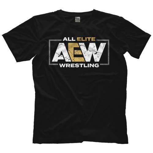 AEW - All Elite Wrestling T-Shirt Logo Offiziell Bis 5XL ! (L)