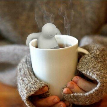 Pakhuis Herr Tee-Ei Silikon Herbal Tee-Sieb -Filter