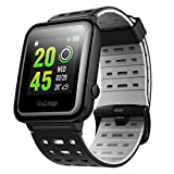 OMORC GPS Sport Watch, WELOOP Smart Watch |30-DAY Ultra-Long Standby |50-METER Waterproof |24-HOUR Heart Rate Monitor Fitness Tracker Watch for Swimming Cycling Running, Men and Women � Black & Grey