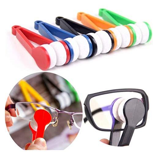 AA-SS-Peeps Eyeglasses Cleaner 5 stücke Brillenglasreiniger, Brillenbürstenreiniger Kit Brillen Mikrofaser Brillen Weichen Pinsel Reinigungsset Abwischen Kit Werkzeug