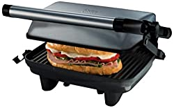 Oster CKSTPA2880 220 to 240-volt Compact Grill Sandwich Maker, Small, Silver