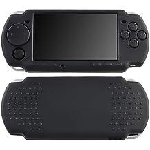 Negro Silicona Goma Funda Carcasa Para Sony PSP Fina 2000 3000