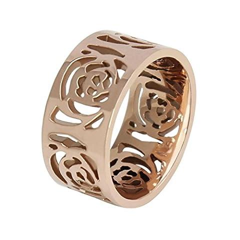 amdxd Bracelet jonc en acier inoxydable pour femme anneaux holliwing Camellia