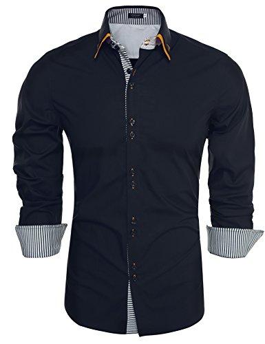 Burlady Burlady Herren Hemden Langarmhemd Regular Fit Bügelleicht Bussiness Freitizeit Party Hochze
