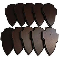10x trofeo carteles en roble oscuro