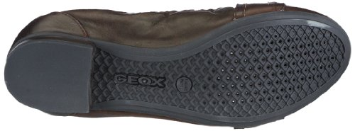 Geox - D Trixie B, Scarpe chiuse Donna Marrone (Rust C6037)