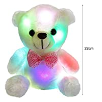 Marooma Teddy Bears Stuffed Animal Plush Toy Light Up Doll for Babies Glows to Soothe Babies to Sleep-8.6inch