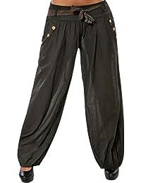 Mujer Pantalones Harén Cintura Elástico Pantalón Moda Casual Color Sólido  Pantalones para ... 3b19d4e99827
