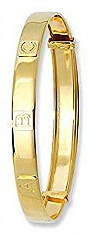 Gold Bangle Gold Bracelet Yellow Gold A B C Alpahbet