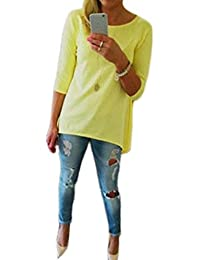 shirt des femmes,Internet Loose Women Pull T-shirt Trois Tops Quarter Shirt Blouse