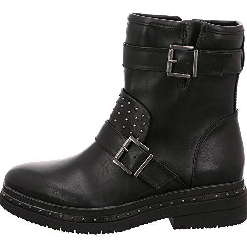 Tamaris 1-1-25943-39 Damen Stiefel, Stiefelette, Biker-Boot, Boot, Winterstiefel, Herbstschuh für die modebewusste Frau, funktionaler Reißverschluss Black