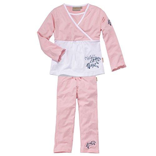 wellyou Kinder-Schlafanzug, Langarm, Zweiteiler für Mädchen, in rosa, Größe 140-146
