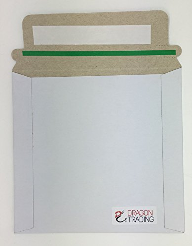 100CD-Ärmel aus Karton schälen und Siegel Briefumschläge weiß/Mail-100Pack Marken Dragon Trading®