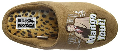 Bafiz Herren Only Fools Mange Tout Slipper Pantoffeln Braun (Brown/Leopard CO5)