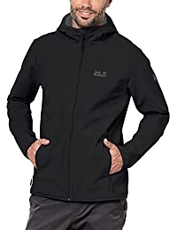 Jack Wolfskin Northern Point - Chaqueta Softshell para hombre, hombre, color negro, tamaño Large