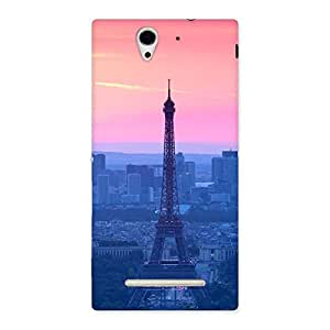Neo World Premium Tower Pink Blue Back Case Cover for Sony Xperia C3