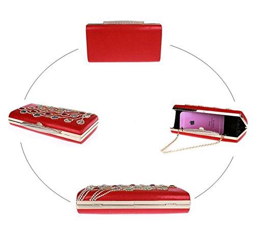 borsa signora diamante/clutch Exquisite/Di alta qualità per banchetti/borsa da sera di moda/pacchetto abito nuziale-F B